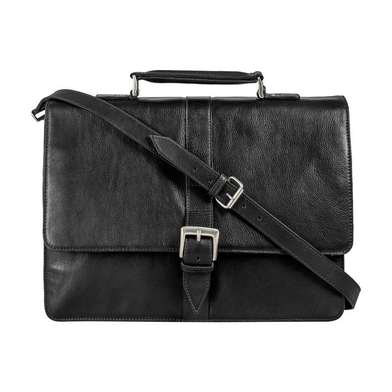 ハイデザイン メンズ スーツケース バッグ Hudson Large 15 Laptop Compatible Briefcase Black