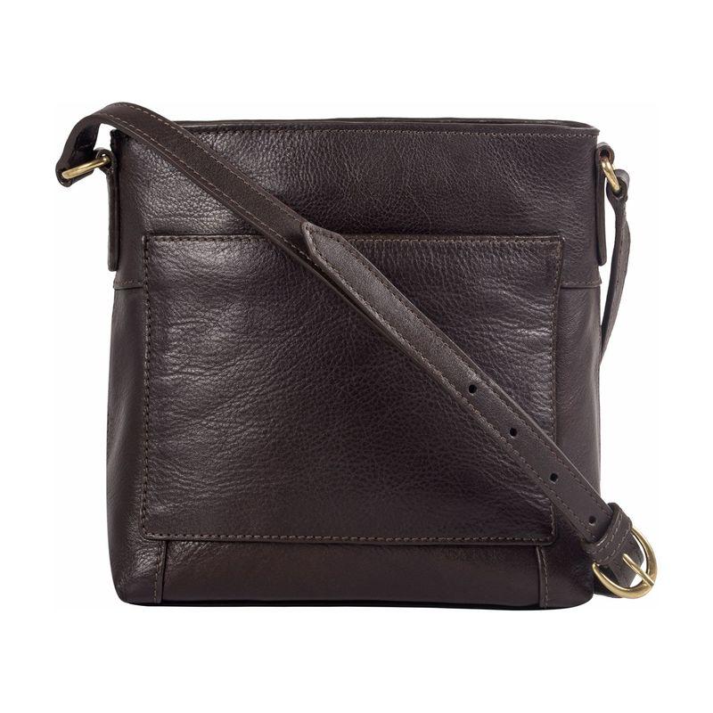 ハイデザイン メンズ ボディバッグ・ウエストポーチ バッグ Sierra Small Crossbody Bag Brown