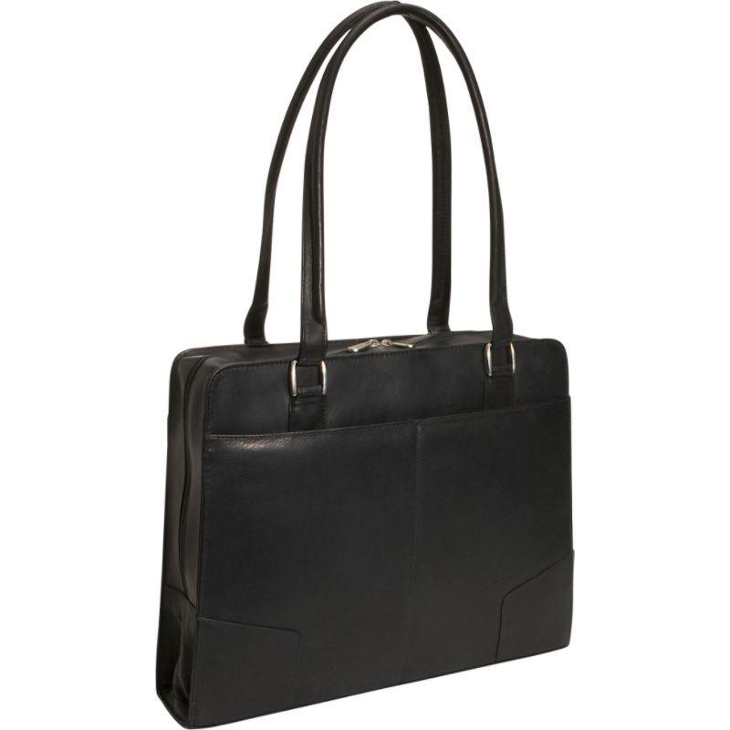 ピエール メンズ スーツケース バッグ Structured Laptop Tote Black