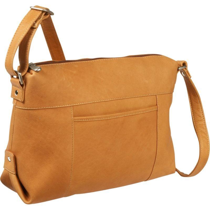 ルドネレザー メンズ ショルダーバッグ バッグ Top Zip Front Slip Shoulder Bag Tan