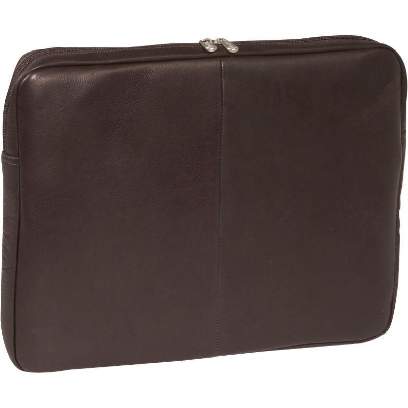 ピエール メンズ スーツケース バッグ 17 Zip Laptop Sleeve Chocolate
