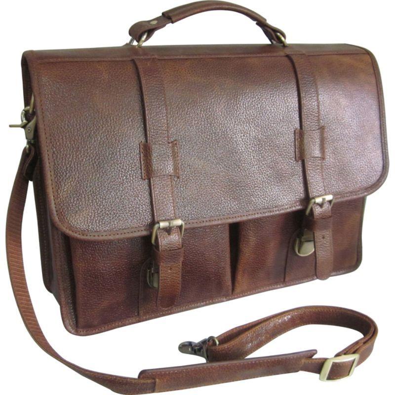 アメリ メンズ スーツケース バッグ Leather Executive Briefcase Brown