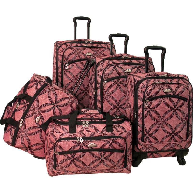 アメリカンフライアー メンズ スーツケース バッグ Clover Metallic 5 Piece Spinner Set Pink