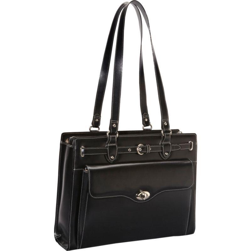マックレイン メンズ スーツケース バッグ Joliet 15 Leather Laptop Tote EXCLUSIVE Black