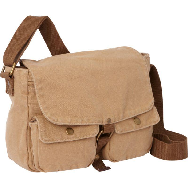 ヴァガボンドトラベラー メンズ ショルダーバッグ バッグ 12 Casual Small Canvas Messenger Bag Khaki