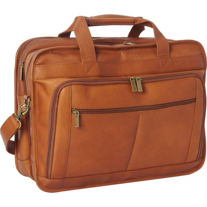 ルドネレザー メンズ スーツケース バッグ Oversized Laptop Brief Tan
