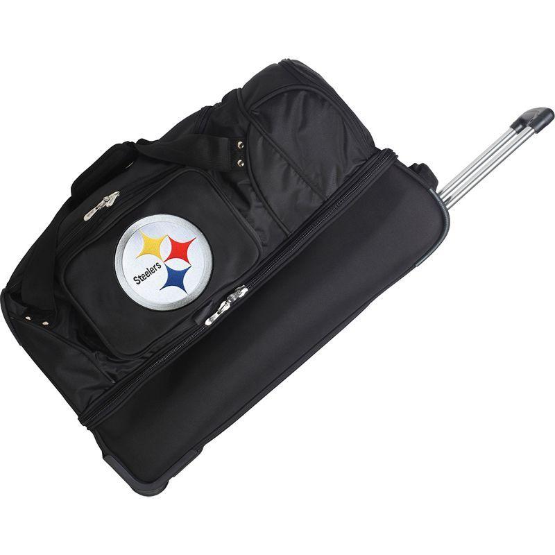 デンコスポーツ メンズ スーツケース バッグ NFL 27 Drop Bottom Wheeled Duffel Bag Pittsburgh Steelers