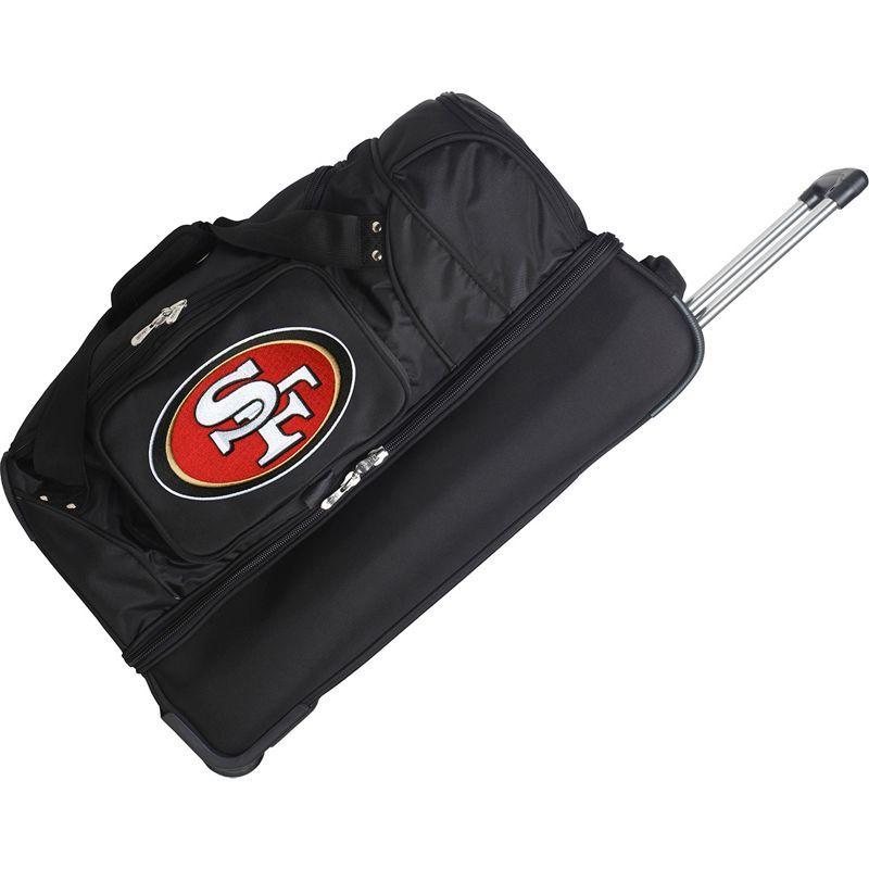 デンコスポーツ メンズ スーツケース バッグ NFL 27 Drop Bottom Wheeled Duffel Bag San Francisco 49ers