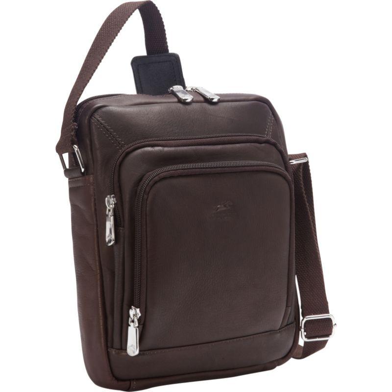 マンシニレザーグッズ メンズ ショルダーバッグ バッグ RFID Tablet Shoulder Bag Brown