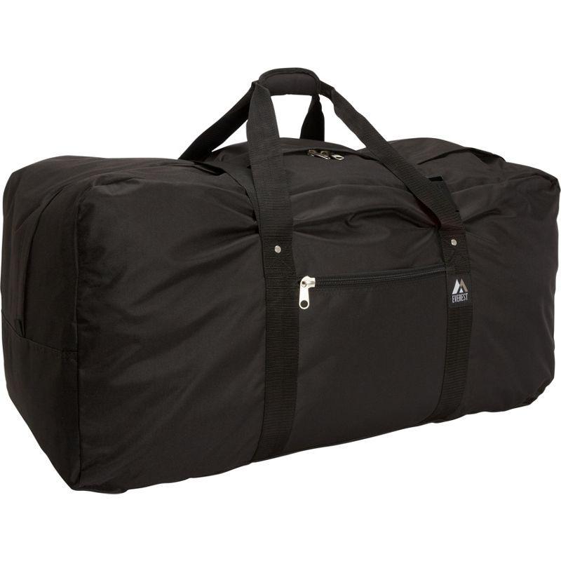 エバーレスト メンズ スーツケース バッグ Cargo Duffel - Medium Black