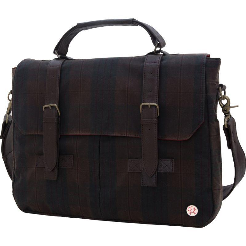 トーケン メンズ スーツケース バッグ Waxed Cortelyou Bag Dark Brown Plaid