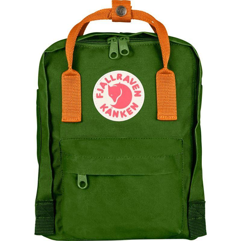 フェールラーベン メンズ バックパック・リュックサック バッグ Kanken Mini Backpack Leaf Green-Burnt Orange
