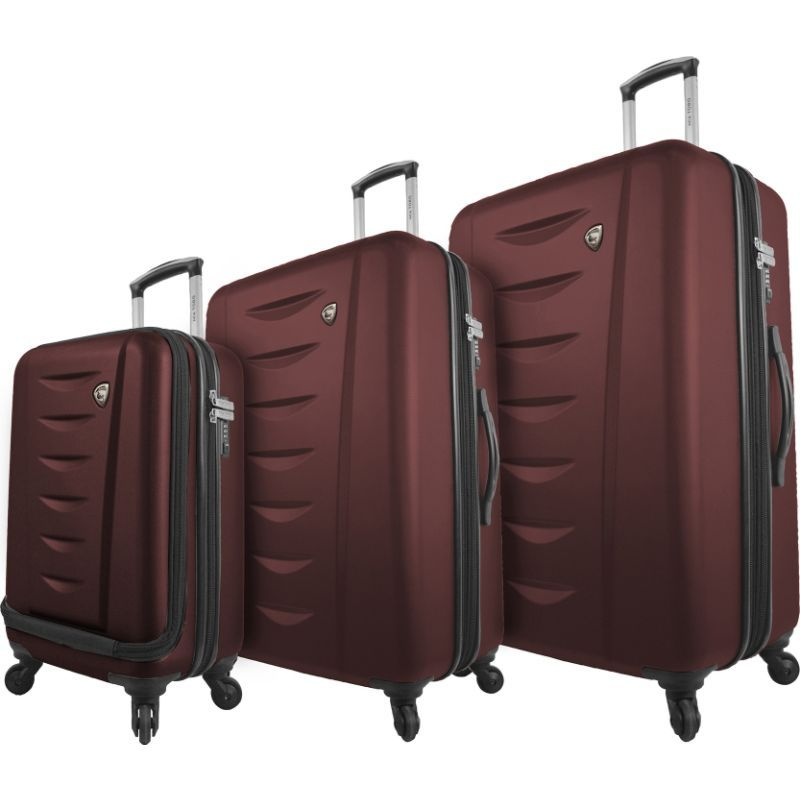 ミアトロ メンズ スーツケース バッグ Tasca Moderna 3 Piece Hardside Spinner Set Burgundy