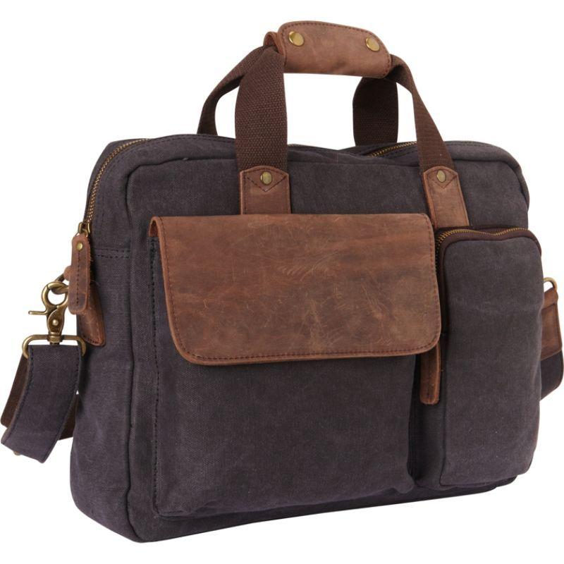 ヴァガボンドトラベラー メンズ スーツケース バッグ Canvas 14 Laptop Messenger Bag- eBags Exclusive Grey