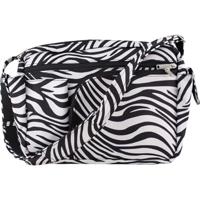 ビーセーフバイダイメーカーズ メンズ ショルダーバッグ バッグ Anti-Theft 10 Pocket Messenger with Organizer - Hard Bottom Zebra