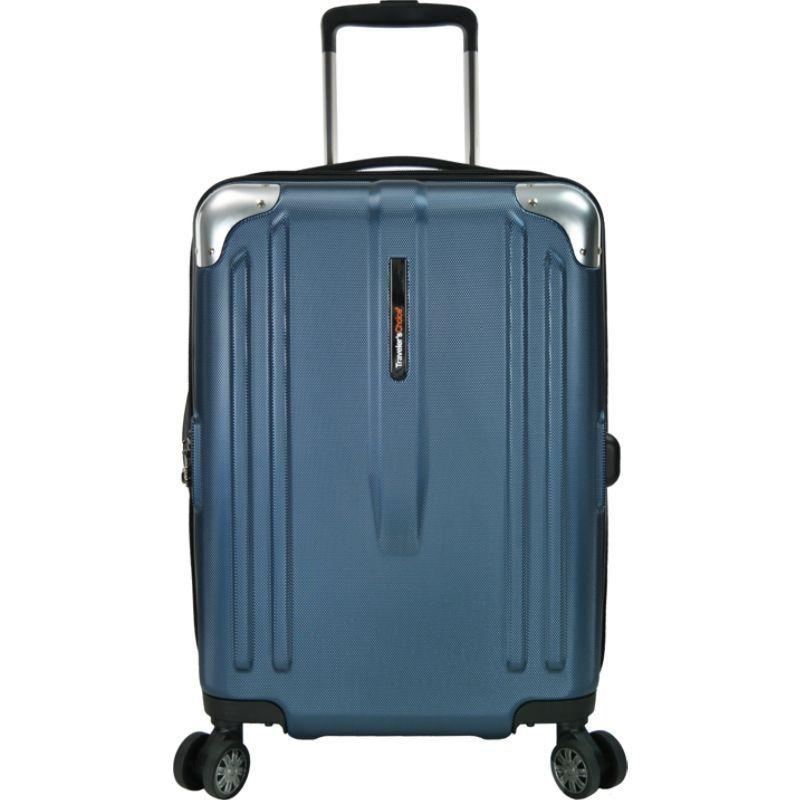 トラベラーズチョイス メンズ スーツケース バッグ New London 22 100% Polycarbonate Trunk Spinner Navy