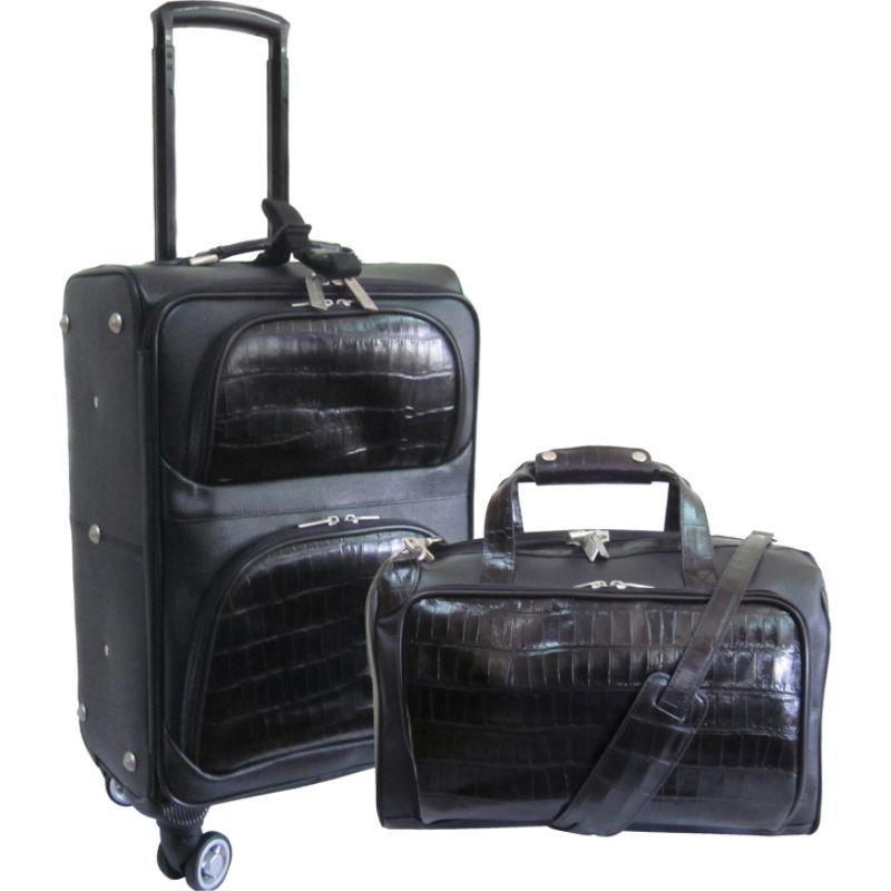 アメリ メンズ スーツケース バッグ 2 Piece Spinner Traveler Set Black Two-Tone