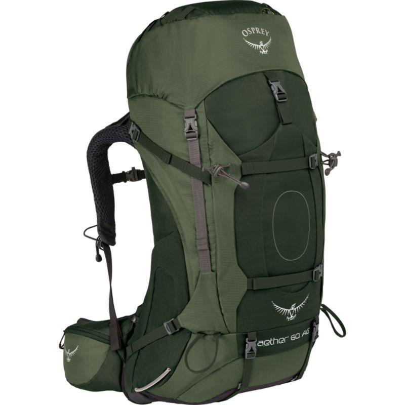 オスプレー メンズ バックパック・リュックサック バッグ Aether AG 60 Hiking Pack Adriondack Green MD