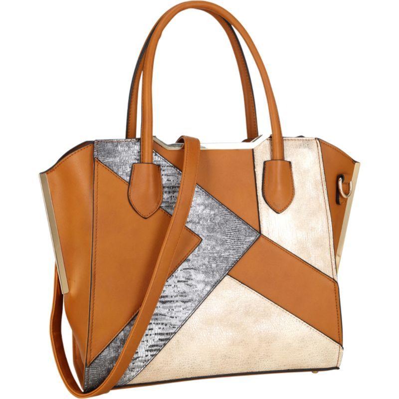 ダセイン メンズ トートバッグ バッグ Tote Bag with Semi Metallic Patch Design Brown