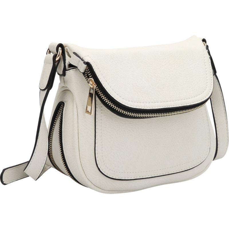 ダセイン メンズ ボディバッグ・ウエストポーチ バッグ Front Flap Crossbody Bag White
