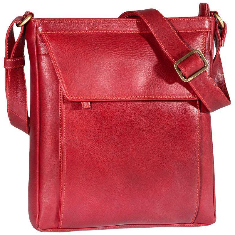 デレクアレクサンダー メンズ ボディバッグ・ウエストポーチ バッグ Medium Tablet-Friendly Crossbody Red