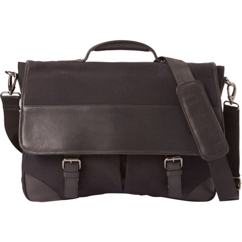 ベリノ メンズ スーツケース バッグ Livingston Leather Briefcase Black