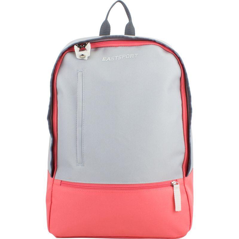 イーストポート メンズ バックパック・リュックサック バッグ Everyday Backpack with Secure Zipper Pulls Grey/Coral