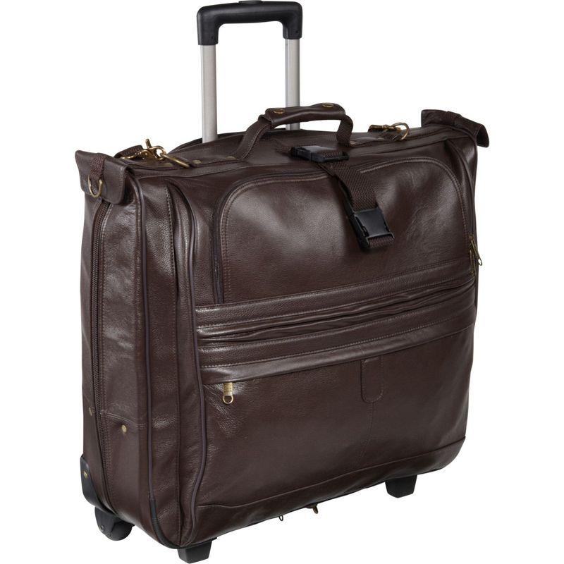 アメリ メンズ スーツケース バッグ Leather Rolling Garment Bag Chestnut Brown