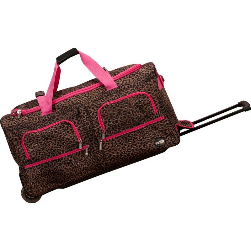 ロックランド メンズ スーツケース バッグ Voyage 2 30 Rolling Duffel Pink Leopard