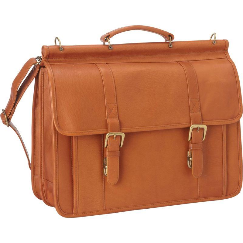 ルドネレザー メンズ スーツケース バッグ Classic Dowel Rod Laptop Briefcase Tan