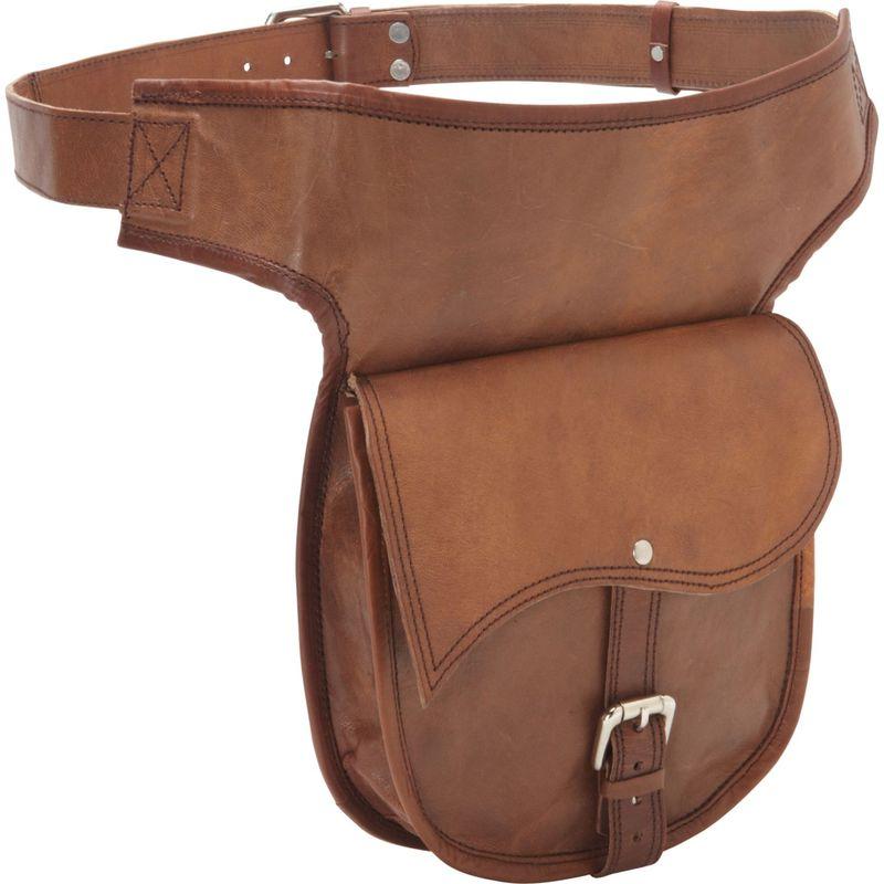 シャロレザーバッグス メンズ ボディバッグ・ウエストポーチ バッグ Leather Adjustable Hip Bag Brown
