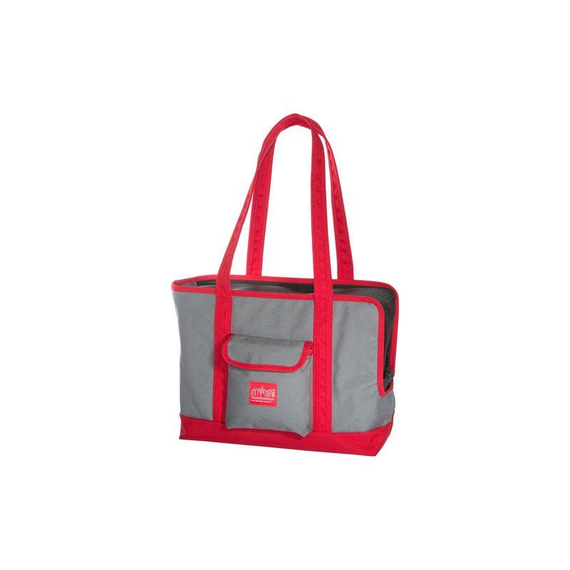 マンハッタンポーテージ メンズ スーツケース バッグ Pet Carrier Tote Bag Version 2 Grey/Red