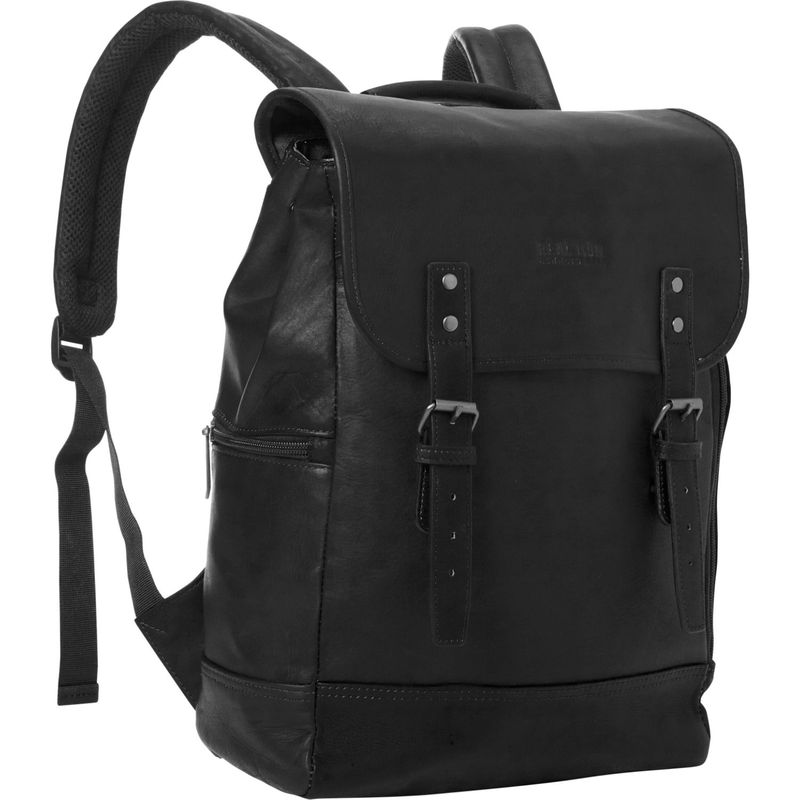 ケネスコール メンズ スーツケース バッグ Sleek Computer Pack-er Colombian Leather Computer Backpack Black