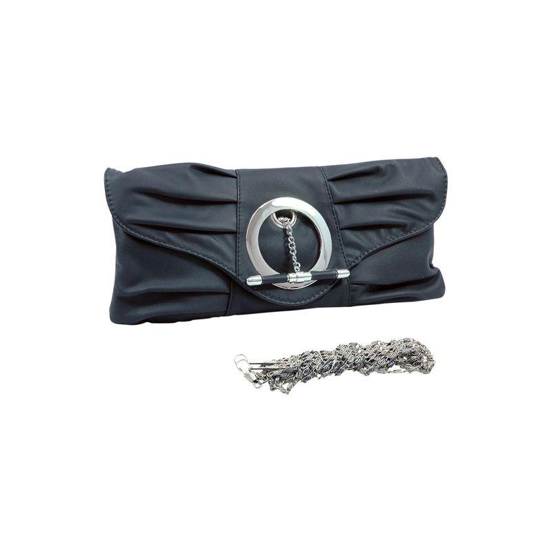 ダセイン メンズ セカンドバッグ・クラッチバッグ バッグ Pleated Front Clutch Purse with Ring Black