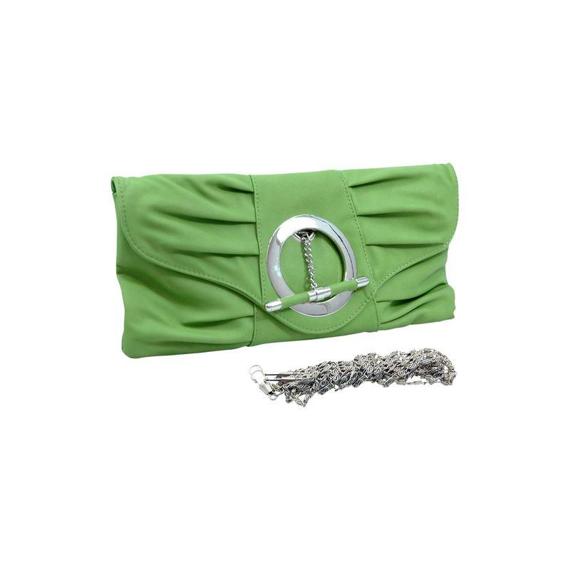 ダセイン メンズ セカンドバッグ・クラッチバッグ バッグ Pleated Front Clutch Purse with Ring Green
