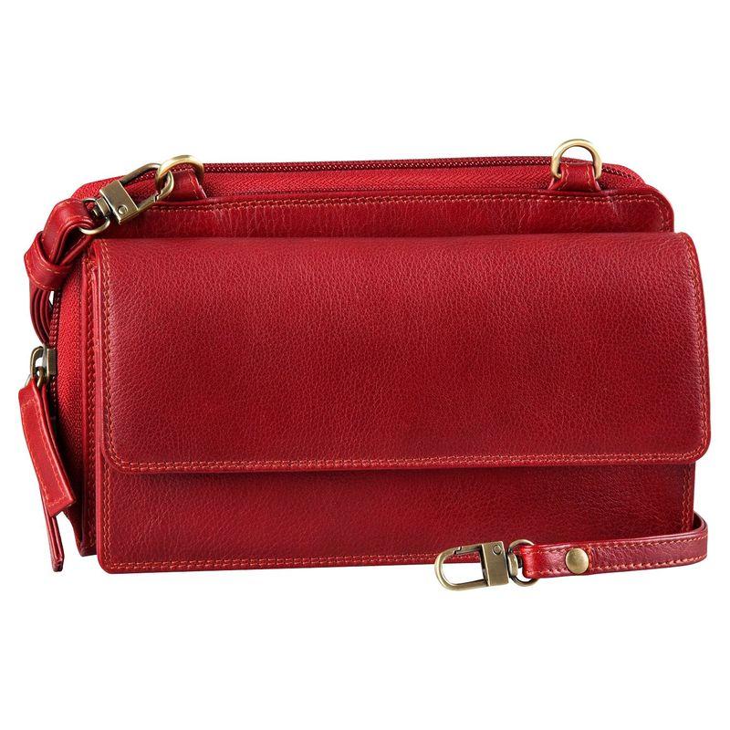 デレクアレクサンダー メンズ セカンドバッグ・クラッチバッグ バッグ Front Flap Pocket with Rear Organizer Crossbody Red