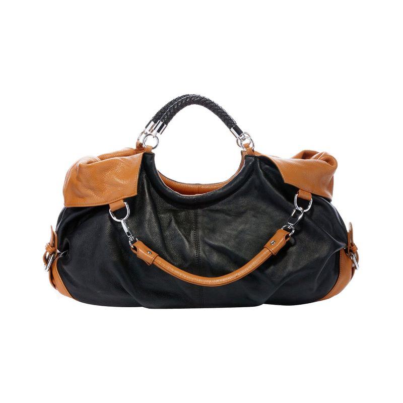 ビンセンゾレザー メンズ ハンドバッグ バッグ Maselle Italian Leather Hobo Black