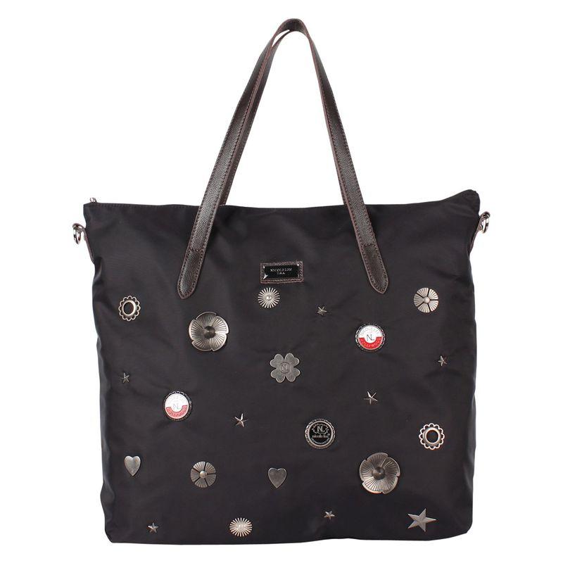ニコルリー メンズ ショルダーバッグ バッグ Studded Charms Shoulder Bag Black