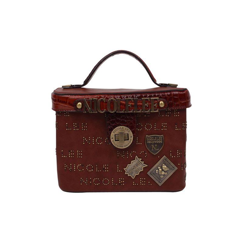ニコルリー メンズ ショルダーバッグ バッグ Handle Beckett バッグ Monogram Mini Top Bag Handle Shoulder Bag Brown, 眠りの森 たんごや:8b1ff65d --- bennynews.com