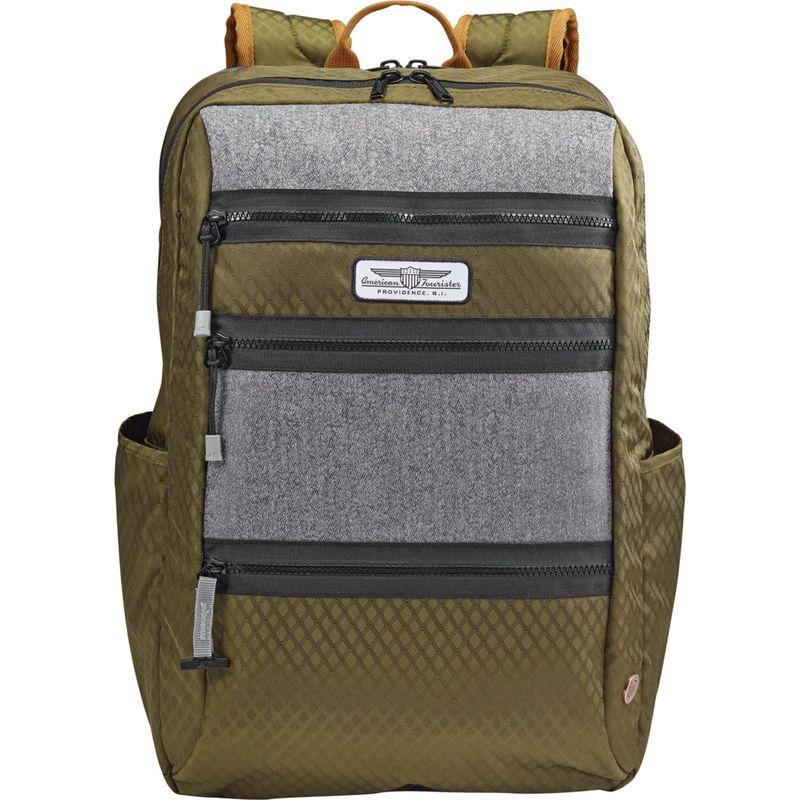 アメリカンツーリスター メンズ バックパック・リュックサック バッグ StraightShooter Laptop Backpack Olive/Grey/Black
