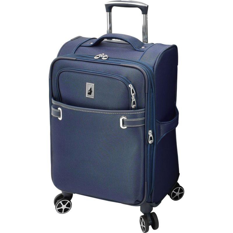 ロンドンフォグ メンズ スーツケース バッグ Softside 20 Expandable Carry-On Spinner Sapphire