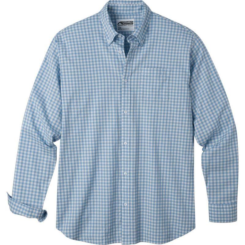 マウンテンカーキス メンズ シャツ トップス Davidson Stretch Oxford Shirt Breeze Check