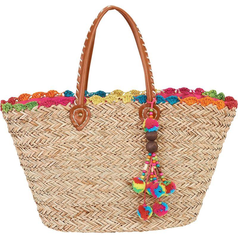 サンアンドサンド メンズ トートバッグ バッグ Natural Straw Handbag Tote Multi