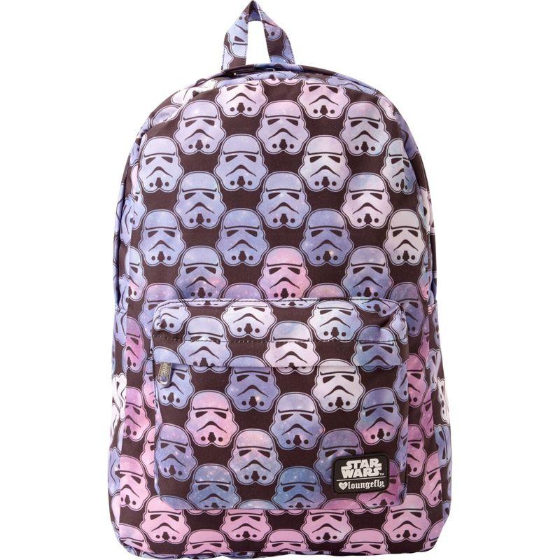 ラウンジフライ メンズ バックパック・リュックサック バッグ Star Wars Ombre Storm Trooper Head Backpack Black/Multi