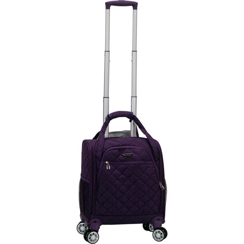 ロックランド メンズ スーツケース バッグ Melrose Wheeled Underseat Carry-On Spinner Purple