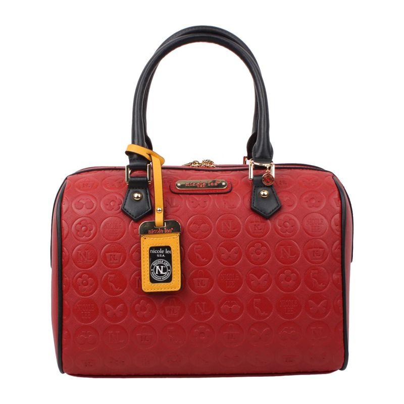ニコルリー メンズ ショルダーバッグ バッグ Ezra Monogram Boston Shoulder Bag Red