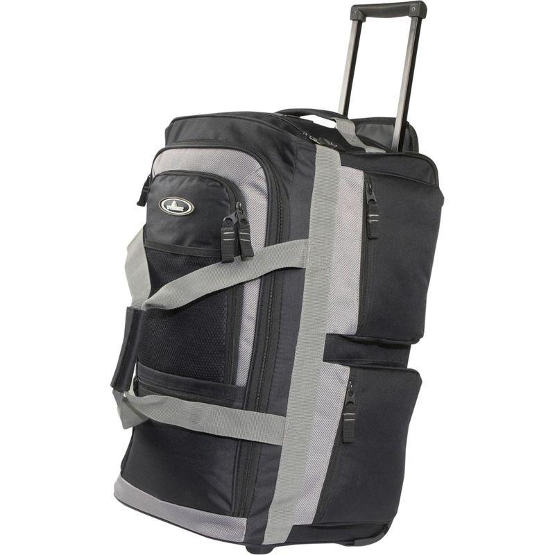 エバーレスト メンズ スーツケース バッグ 22 Rolling Duffel Bag Black