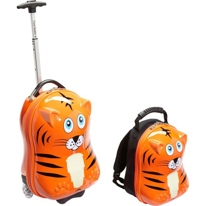トレンディキッズ メンズ スーツケース バッグ Travel Buddies Tiger 2Pc Set Tiger Orange