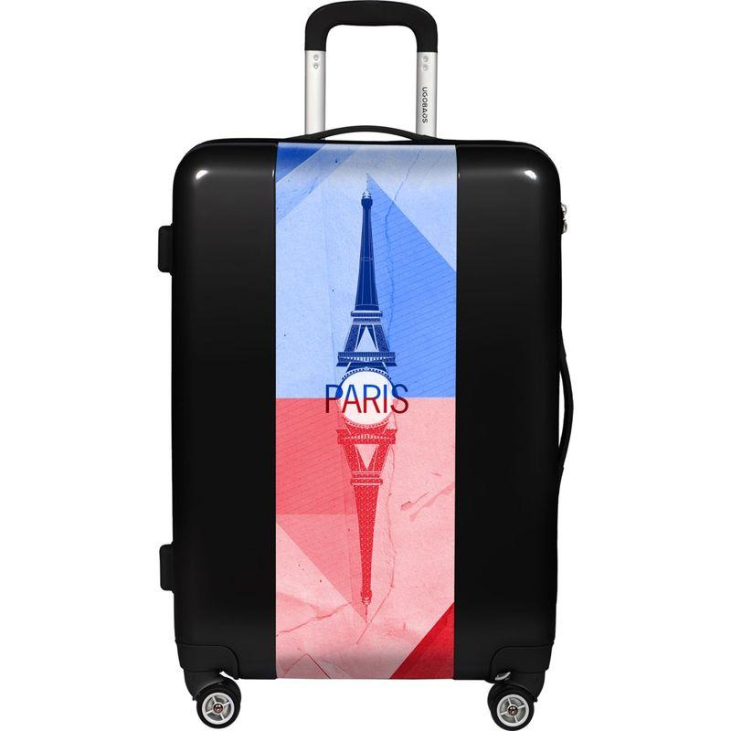 ウゴバッグ メンズ スーツケース バッグ Paris 26.5 Hardside Spinner Black