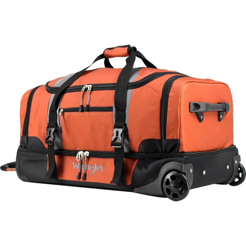 ラングラー メンズ スーツケース バッグ 30 2-Section Drop Bottom Rolling Duffel Burnt Orange